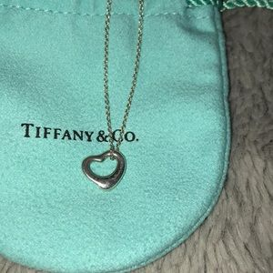 Tiffany small heart necklace